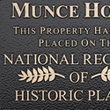Cast Metal Bronze Plaque