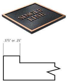 Cast Plaques Borders - Single Line Border