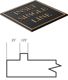 Cast Plaques Borders - Inset Single Line Border