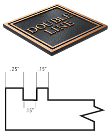 Cast Plaques Borders - Double Line Border